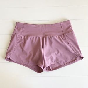 Lululemon Run Times Short in Frosted Mulberry
